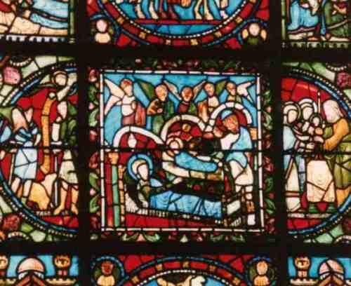 Nativity stain glass 1100