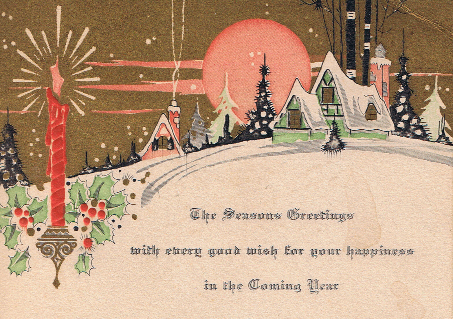 Vintage Postcard: Holiday Greetings | Rita Bay's Blog