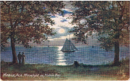 Moonlight on Mobile Bay 1909