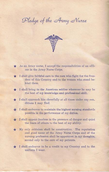 Army Nurse PledgeSM